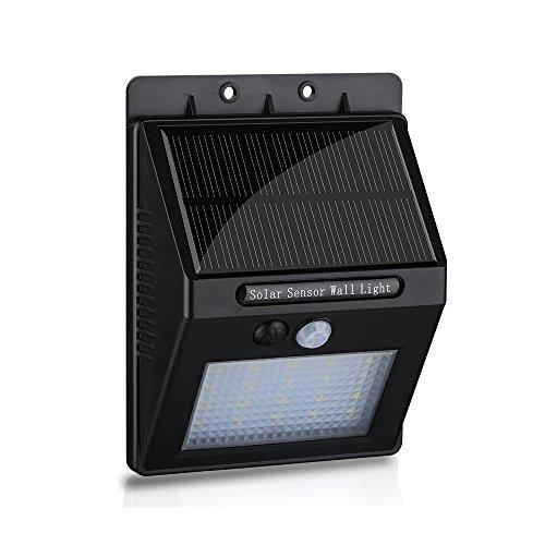 Habor Super Bright 20 LED Solar Powered Light Solar Motion Sensor Lights with Two Sensing Modes Solar Wireless...