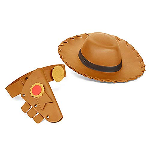 Disney Woody Boys 3 Piece Toy Story 4 Dress Up Accessory Set with Hat, Holster, and Belt Tan]()