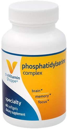 Phosphatidylserine Complex 500mg Softgel Supports Healthy Brain Cognitive Function, Promotes Memory, Focus Brain Activity 500mg of SharpPS ,Branded Ingredient 60 Softgels by The Vitamin Shoppe
