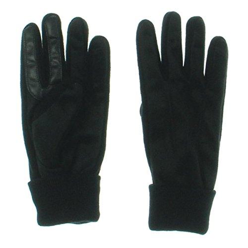 - Isotoner Mens Signature Knit Cuff Casual Gloves Black L
