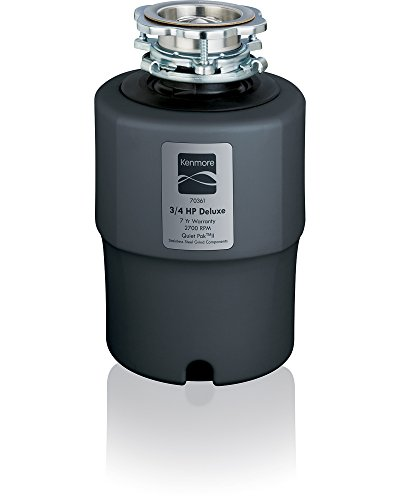 Kenmore 70361 Garbage Disposer 3/4 Horsepower Deluxe, Dark Gray by Kenmore
