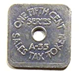 Old One Fifth Cent Series A-35 Colorado Sales Tax Token Coin