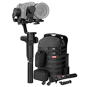 Zhiyun WEEBILL LAB 3-axis Handheld Gimbal Stabilizer for Sony A7S A7M3 A7R3 A7R2 A7S2 A6500 A6300 Panasonic GH5 GH5s Mirrorless Cameras (Master Package - Phone holder,follow focus & Backpack included)
