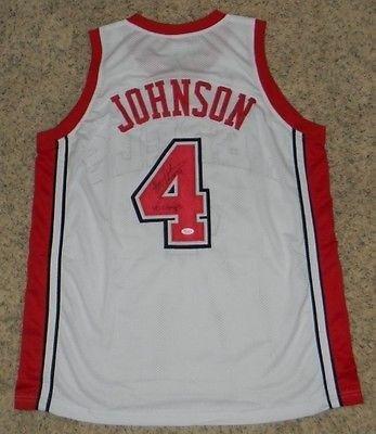 brand new b9ffe 44a22 Signed Larry Johnson Jersey - Unlv Runnin Rebels #4 White ...