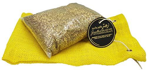 Zaatar With Almonds & Walnuts Premium Quality (1.1 lbs, 18 Oz NET = 10 Jars) Original Zaatar Spice with Real Hyssop and natural ingredients (Za'atar/zatar/zahtar/zahatar) ( 11 x 7 x 2 inches) (Best Lebanese Olive Oil)