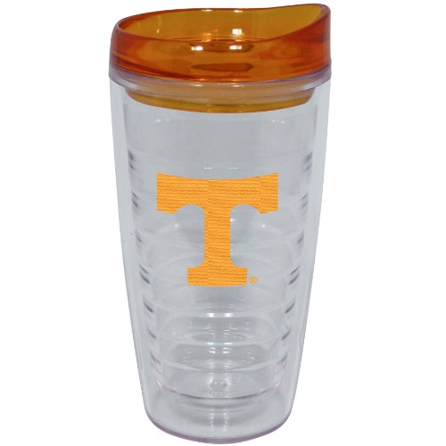 (NCAA Tennessee Volunteers 16-Ounce Slimline Tumbler with Color Lid)