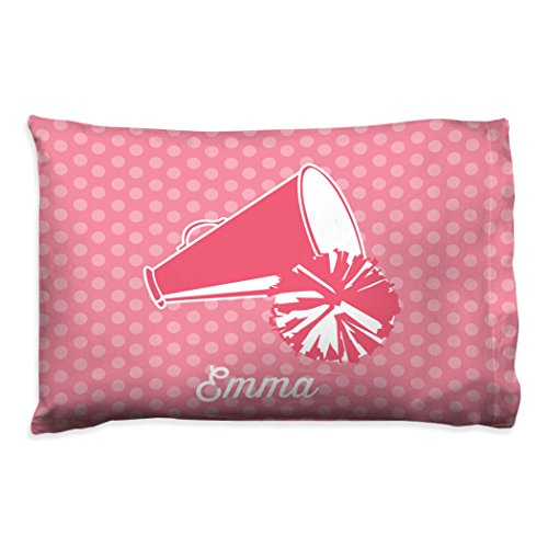 Personalized Cheerleading Megaphone Pillowcase | Cheerleading Pillow by ChalkTalk Sports | Pink