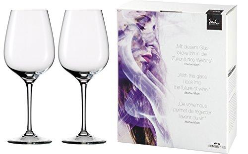Bordeaux Glass Set (Eisch Superior Bordeaux Sensis Plus Lead-Free Crystal Wine Glass, Set of 2, 25-Ounce)