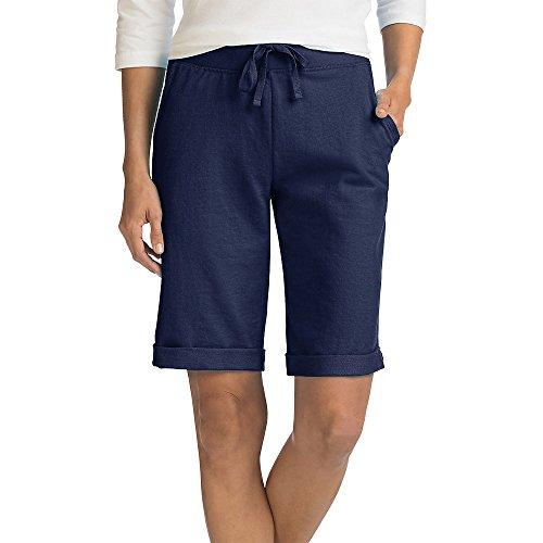 - Hanes Women's French Terry Bermuda Pocket Short
