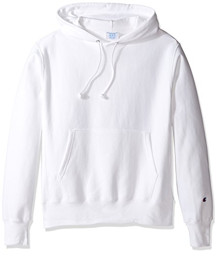 Champion LIFE Men's Reverse Weave Pullover Hoodie, White, L