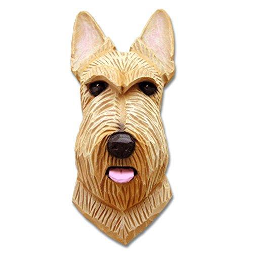 (Scottish Terrier Head Plaque Figurine Wheaten)