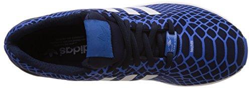 adidas ZX Flux Techfit, Baskets Basses Homme Bleu (Bluebird/Collegiate Navy/Ftwr White)