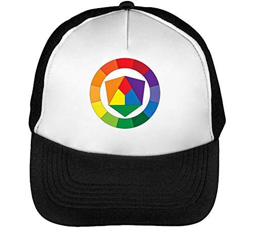 Color Wheel Gorras Hombre Snapback Beisbol Negro Blanco