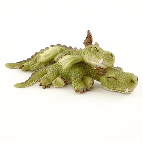 Top Collection Miniature Fairy Garden and Terrarium Mini Dragons Cuddling -