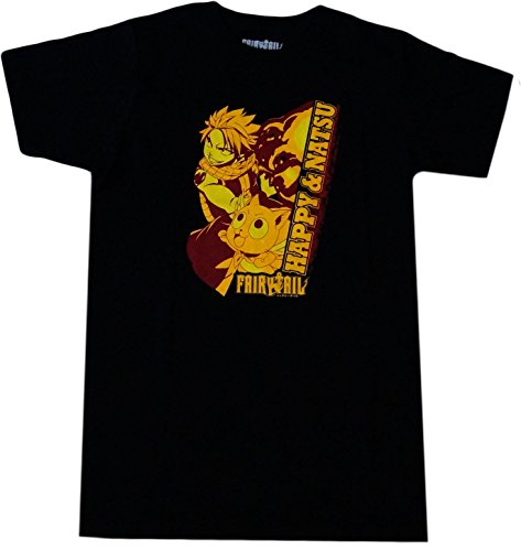 Fairy Tail: Natsu and Happy Fired Up T-Shirt,Adult X-Large