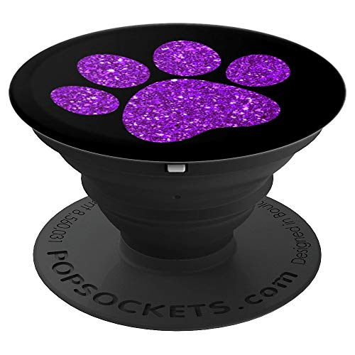 Light Purple, Paw Print sparkle, Cat Paw, Dog Paw - PopSockets Grip and Stand for Phones and Tablets