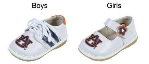 Squeak Me Shoes 4211 Boys' Auburn Sneaker Size: 6 (Toddler), Color: White