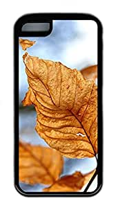 iPhone 5c Case Unique Cool iPhone 5c TPU Black Cases Dry Leaves Autumn Design Your Own iPhone 5c Case