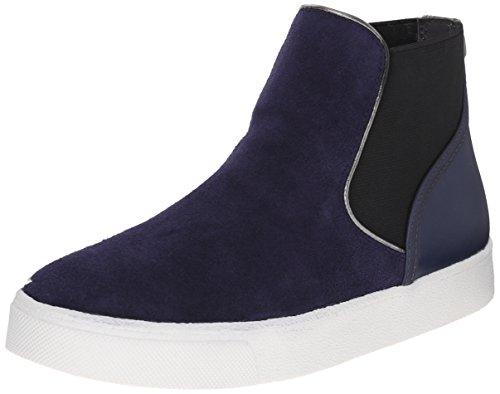 Sam Edelman Women's Margot Fashion Sneaker, Space Blue Suede, 9.5 M US