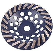 "Blastrac CG-735DT Concrete Turbo Diamond Cup Wheel 24 Seg Premium Blade, 7"""