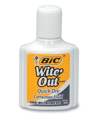 Bic Wite-Out Quick Dry Fluid with Foam Applicator (3-Pack) - AB-500-7-04
