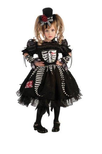 Deluxe Bones Costume - Skeleton Costume (5-7 years with Bracelet for Mom)