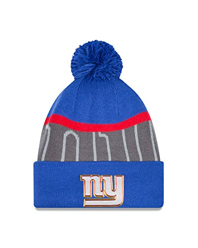 NFL New York Giants Gold Collection Team Color Knit Beanie, One Size fits All, Blue/Gray