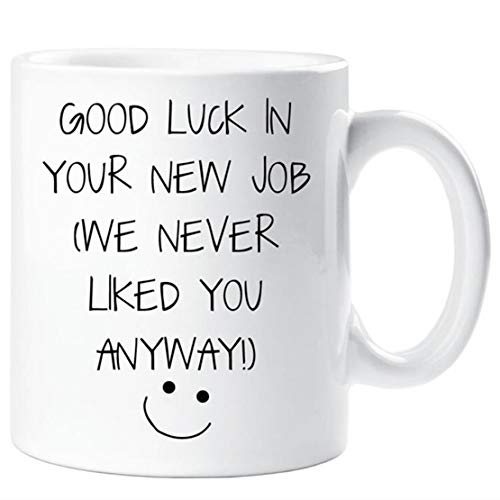 New Job Mug Good Luck In Your New Job Please Take Us With You Mug Leaving Present