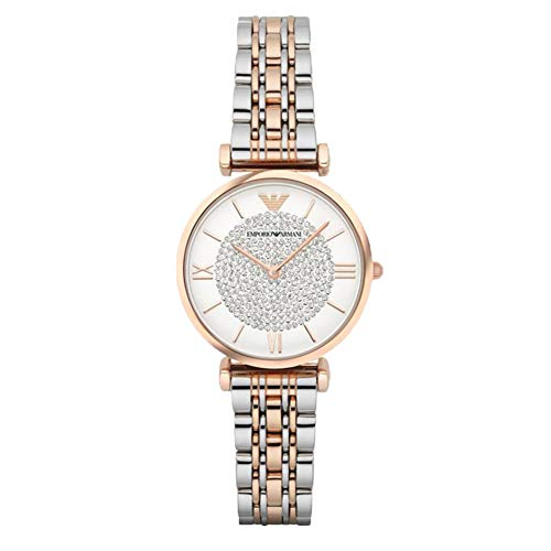 2019 New Starry Watch, Stylish and Elegant Casual Quartz Watch with Diamonds (Rose Gold & Silver)