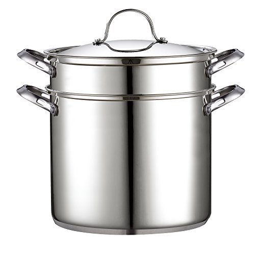 Cooks Standard Classic 4-Piece 12 Quart Pasta Pot Cooker Steamer Multipots, Stainless Steel by Cooks Standard (Image #1)