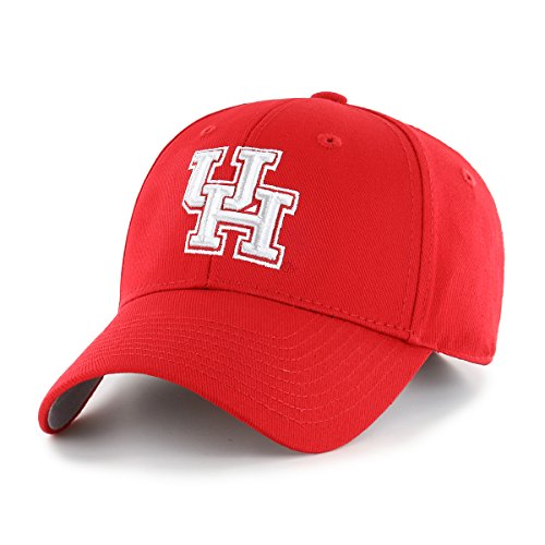 NCAA Houston Cougars OTS All-Star MVP Adjustable Hat, Red, One Size -