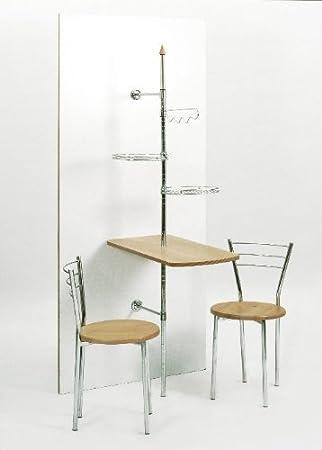 stabiler Wandtisch,Küchendiener mit Wandstange, Tisch Buche Dekor ...