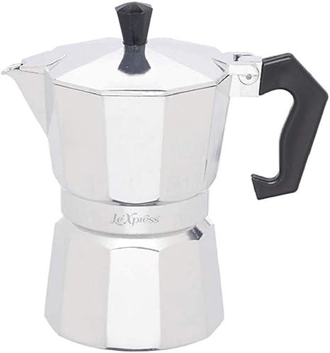 LEXPRESS Kitchen Craft Cafetera Italiana (3 Tazas, 120 ml)
