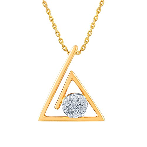 Giantti 14 carats Diamant Pendentif Femme Collier (0.1222 CT, VS/Si-clarity, Gh-colour)