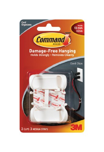 Command Wire - Command Large Cord Clips, 2-Clip