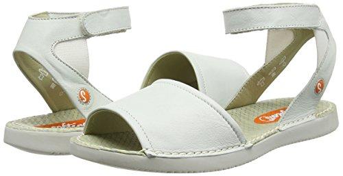 Softinos Sandals Women''s Strap white Tia385sof White Ankle ZvTrRZwq