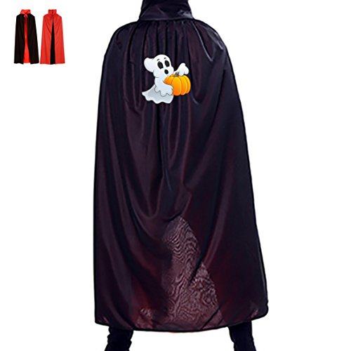 Funny Elf and Punmpkin Kids Halloween Cloak Witch Reversible Cape and Hat Costumes for Boys (Diy Scarecrow Costume)