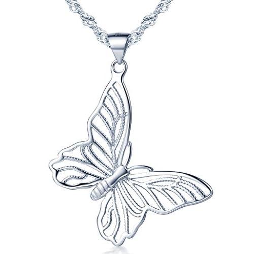 Infinito U- Collares Mujer de Plata 925 Colgante de Mariposas Hueco,Idea Regalo para Mujer Chicas a buen precio