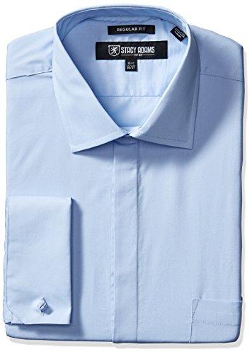 Stacy Adams Men's Big and Tall 39000 Solid Dress Shirt, B...