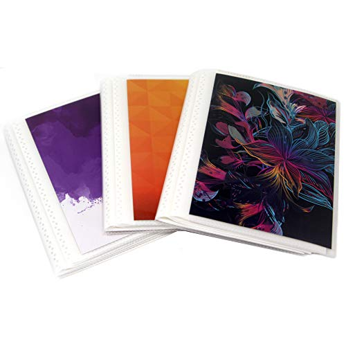 4 x 6 Photo Albums Pack of 3 - Brights, Each Mini Photo Albu