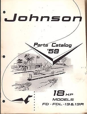 D MOTOR 18 HP PARTS CATALOG MANUAL P/N 377807 (172) (Hp Parts Catalog Manual)