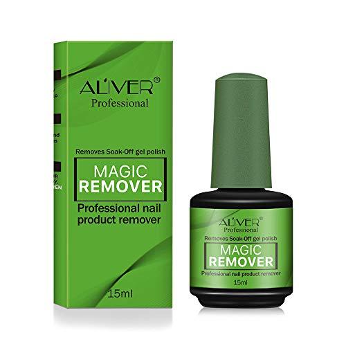 Magic Nail Polish Remover, Soak-Off Gel Polish Remover Professional Removes Soak-Off Gel Polish In 2-5 Minutes Easily & Quickly Don't Hurt Your Nails