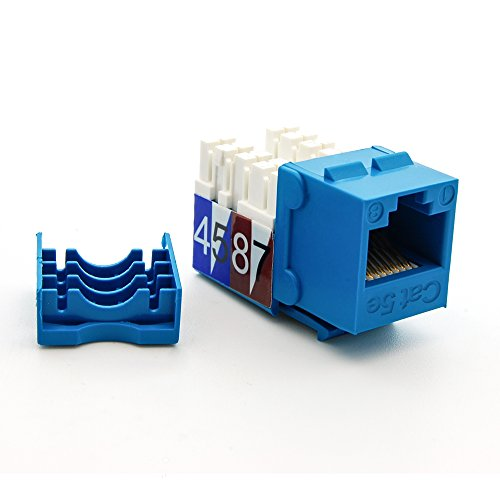 (Beszin Cat.5E RJ45 110 Type Keystone Jack (50-Pack, Blue))