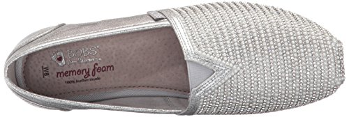 Skechers BOBS Von Frauen Luxe BOBS-Big Dreamer Flat Silber