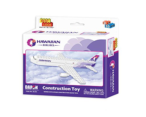 Hawaiian Airlines 55 pc Construction Block Kit