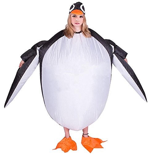 Penguin Rider Costumes (Inflatable Penguin Blow Up Lovely Animal Rider Party Cosplay Costumes Chubsuit)