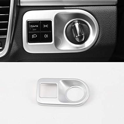 ABS de pl/ástico color plateado mate interior aire acondicionado Superior tapajuntas 2 unidades para Tiguan II 2017 2018
