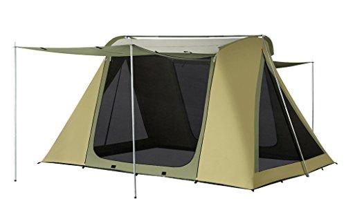 海外で郵便物口ひげ[ノーブランド品] 通気性良い 軽量 UVカット加工 アウトドア テント 5人用 グリーン