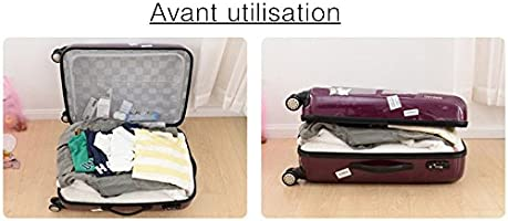 CAOLATOR 6 piezas de viaje para equipaje, organizador, bolsas, set de bolsas para cosméticos, ropa, de almacenamiento, bolsa de almacenamiento