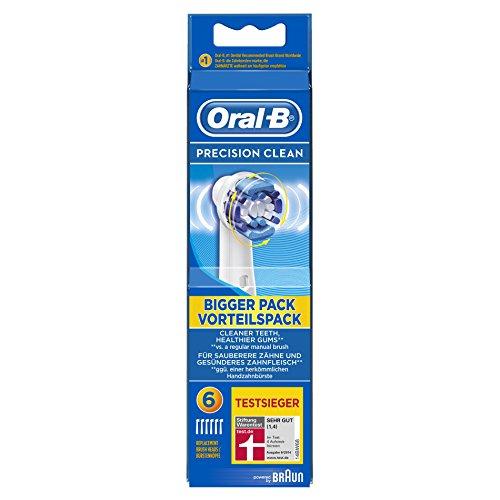 Oral-B Precison Clean Aufsteckbürsten (Ersatzbürstenköpfe für elektrische Zahnbürsten, gesunde Zähne, powered by Braun) 6 Stück